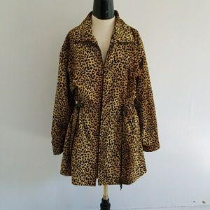 VINTAGE cheetah print light weight coat